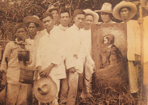 Katipunero with the portrait of Jose Rizal