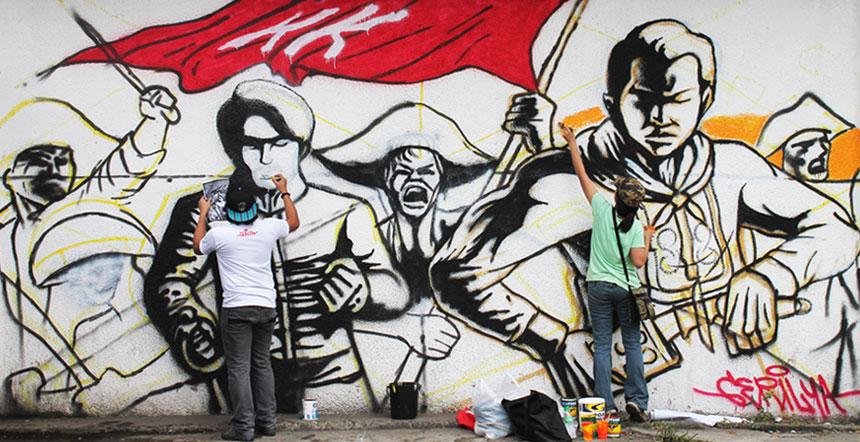 """""""Ang Katipunan"""" Bayani Art X Gerilya"""