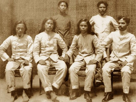 Julian Montalan, Francisco Carreon, Macario Sakay, Leon Villafuerte, Benito Natividad and Lucio de Vega.